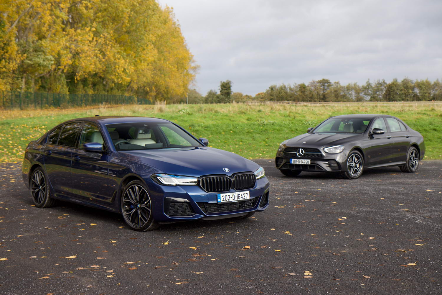 Complete Car Features | BMW 5 Series vs. Mercedes E-Class hybrid comparison
