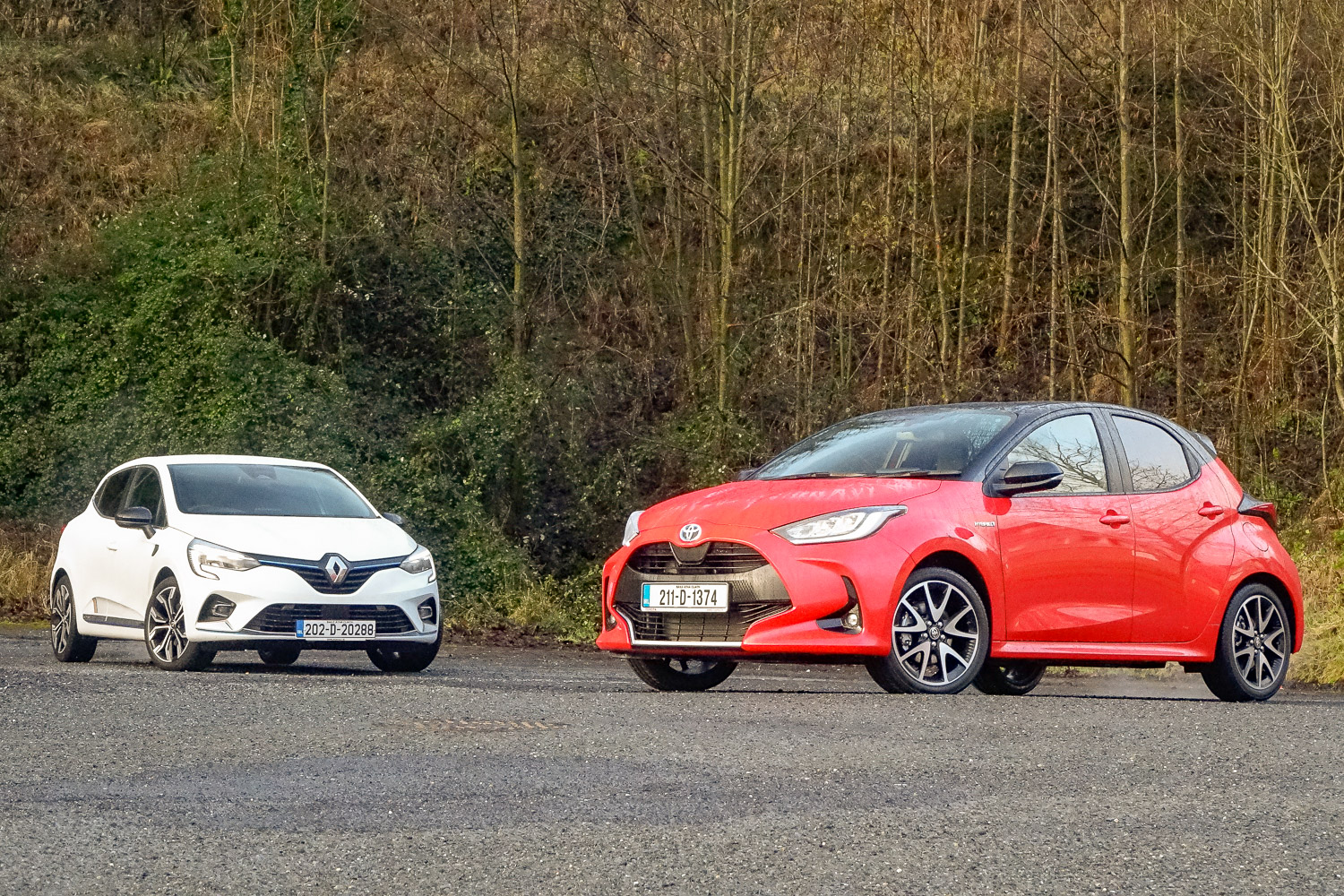 Toyota Yaris Hybrid vs. Renault Clio E-Tech comparison | CompleteCar.ie