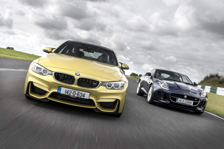 BMW M4 Coupe vs. Jaguar F-Type Coupe comparison | CompleteCar.ie