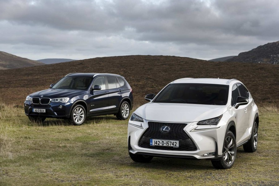 SUV twin test: BMW X3 vs. Lexus NX 300h | CompleteCar.ie
