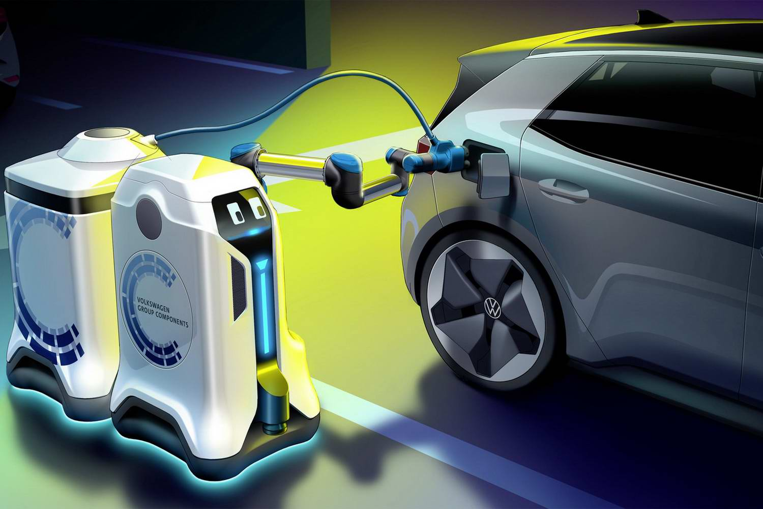 Complete Car Features   We will be EV-charging robots