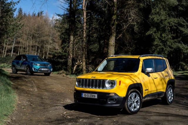suv twin test jeep renegade vs suzuki vitara a feature by. Black Bedroom Furniture Sets. Home Design Ideas