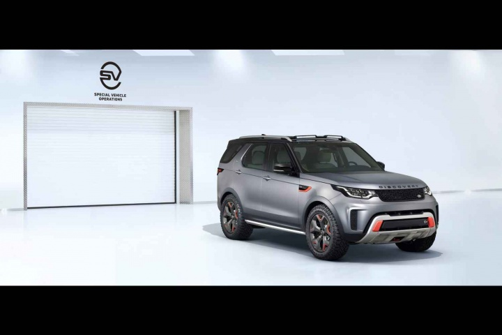 Land Rover shows off its Discovery SVX