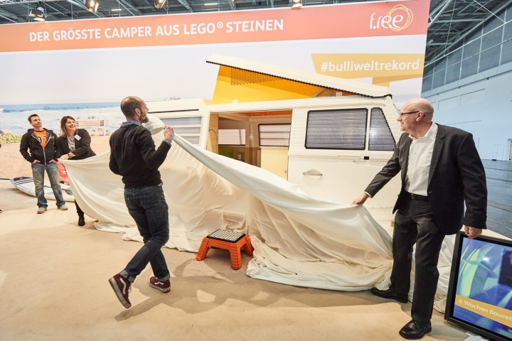 life size lego volkswagen camper car and motoring news by. Black Bedroom Furniture Sets. Home Design Ideas