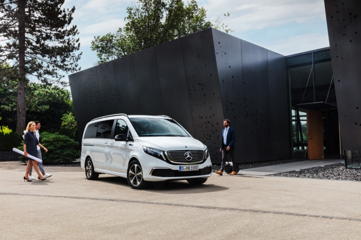 Electric Mercedes-Benz EQV van debuts