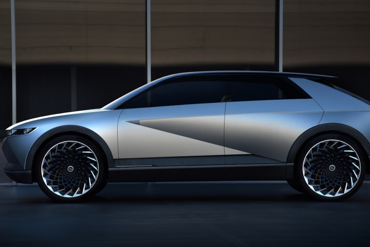 Hyundai goes retro with 45 electric concept