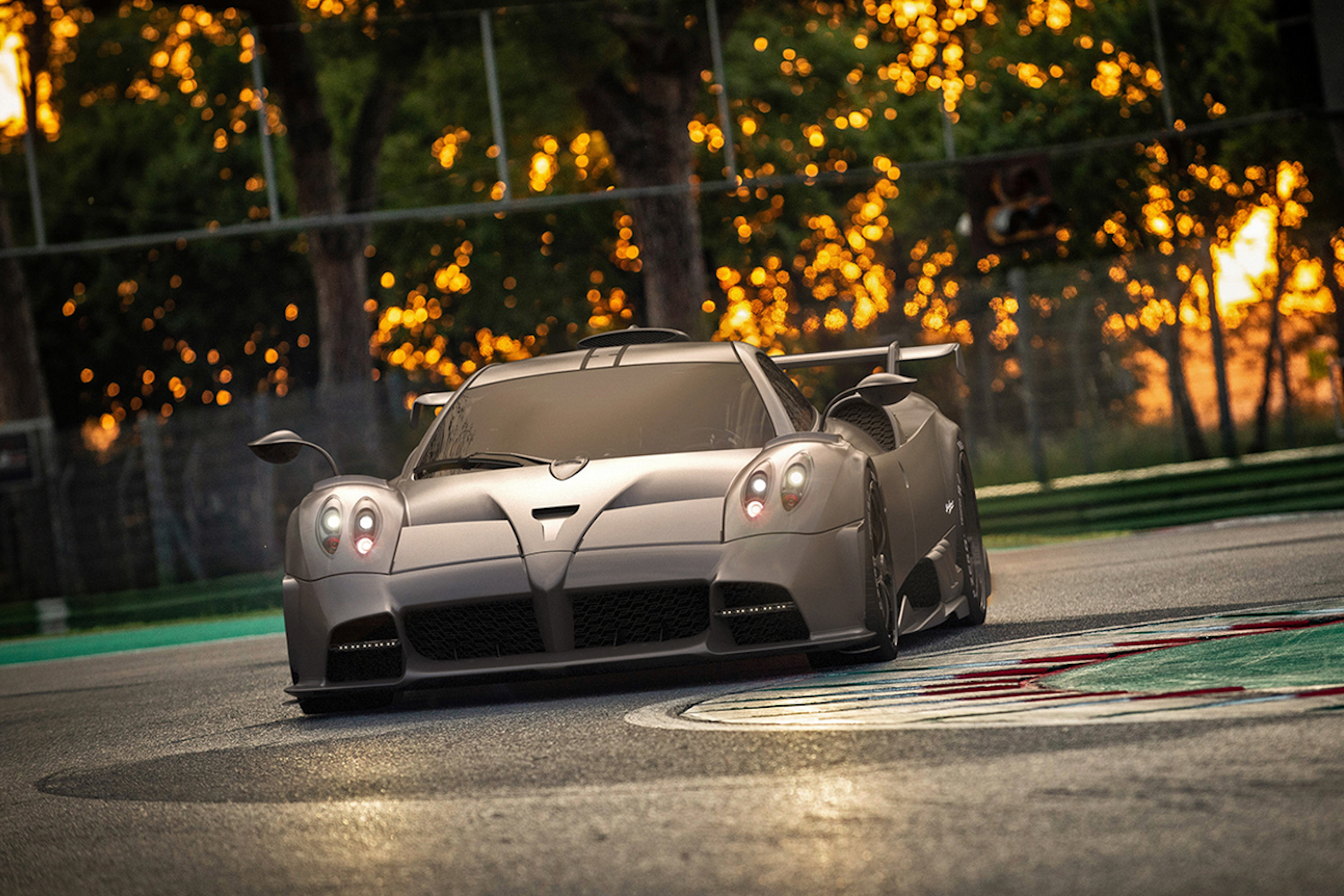 Hardcore Pagani Imola developed on track for the road