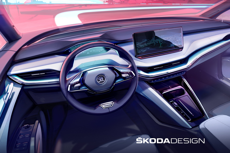 Car News | First look inside the Skoda Enyaq iV | CompleteCar.ie