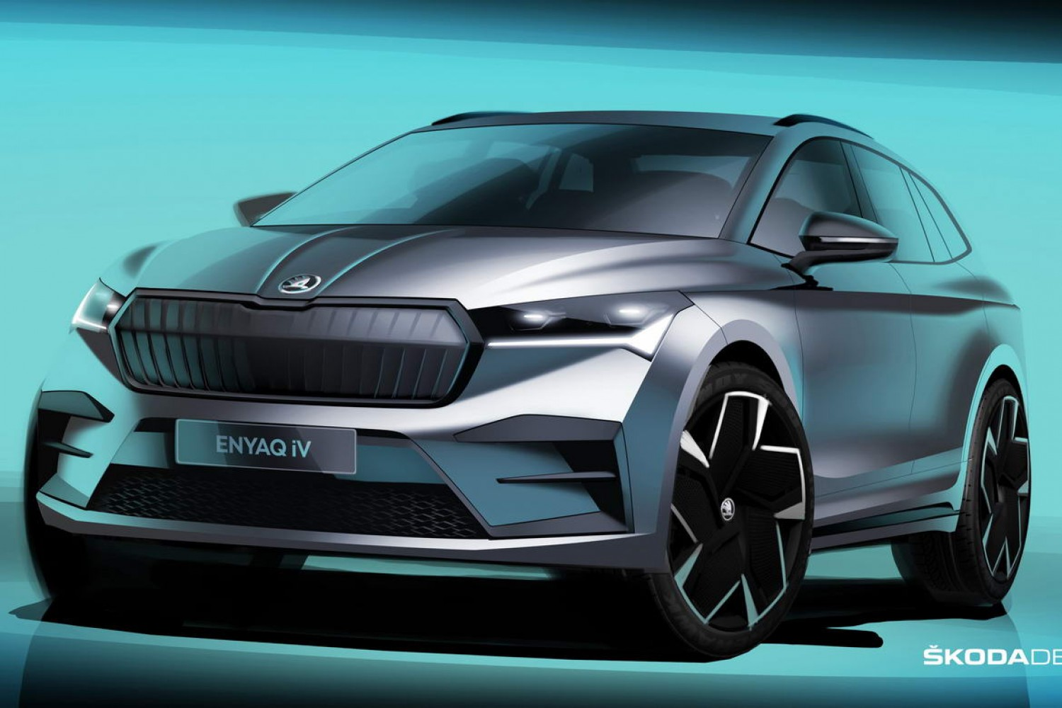 Car News | Skoda Enyaq iV revealed in sketches | CompleteCar.ie