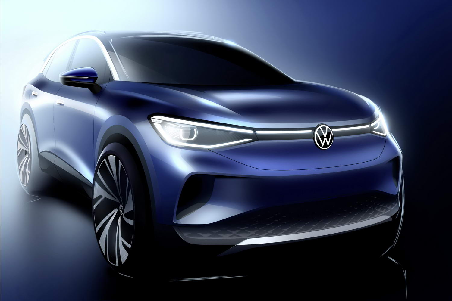 Car News | Volkswagen ID.4 previewed in sketch | CompleteCar.ie