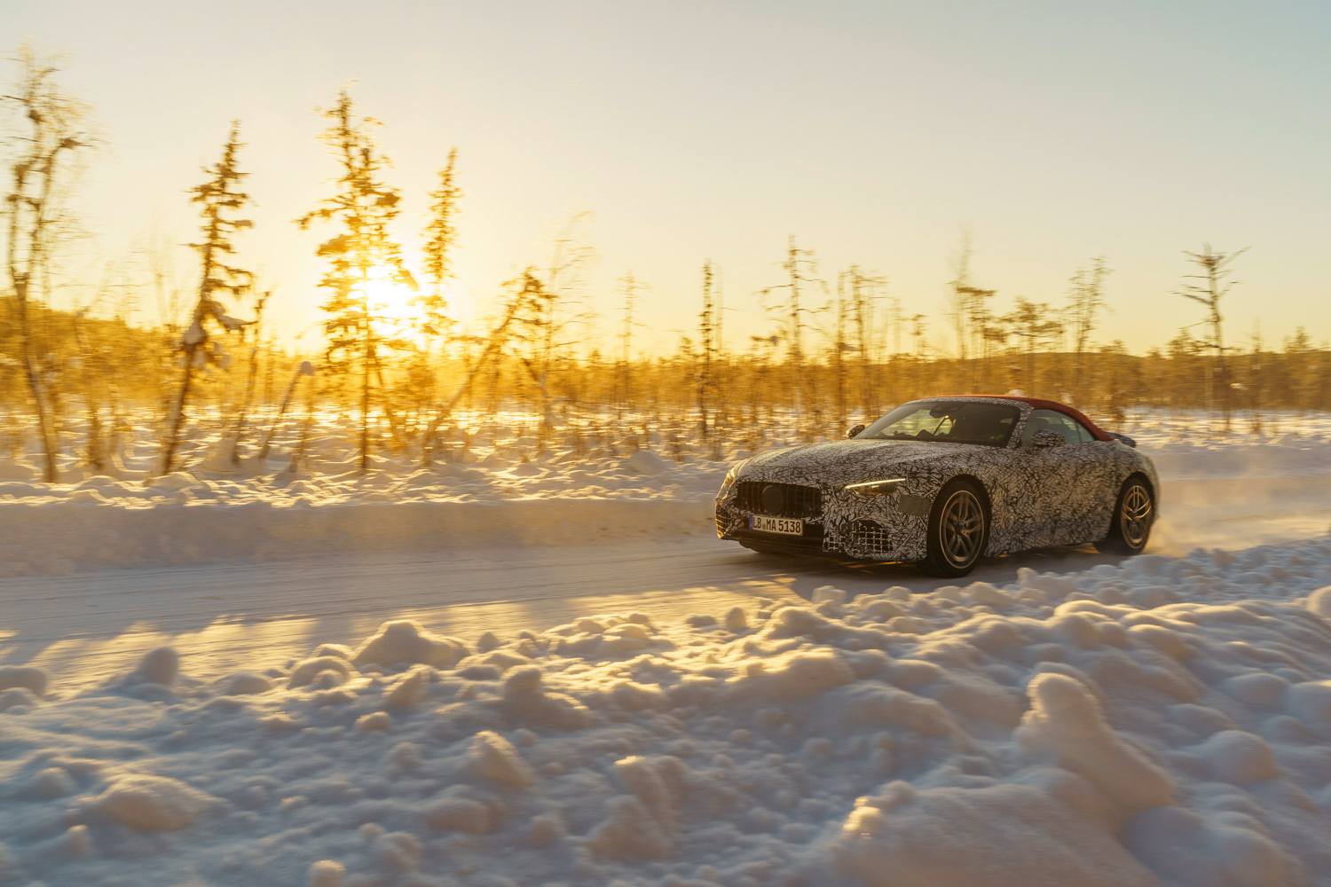 Car News   Mercedes wraps up winter testing for new SL   CompleteCar.ie