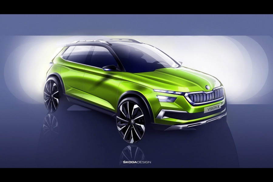 Skoda Vision X urban crossover previewed
