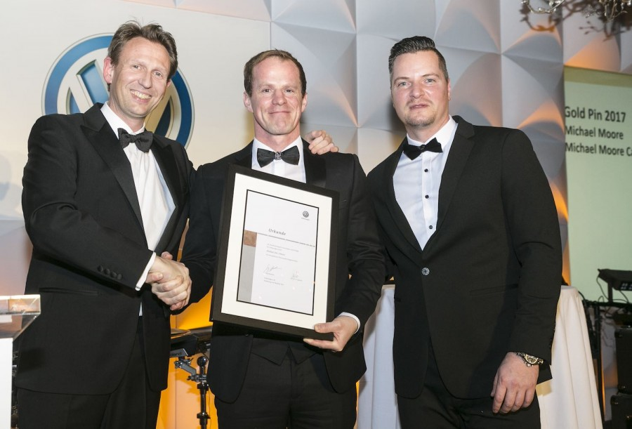 Car Industry News | Michael Moore Volkswagen wins Gold Pin | CompleteCar.ie