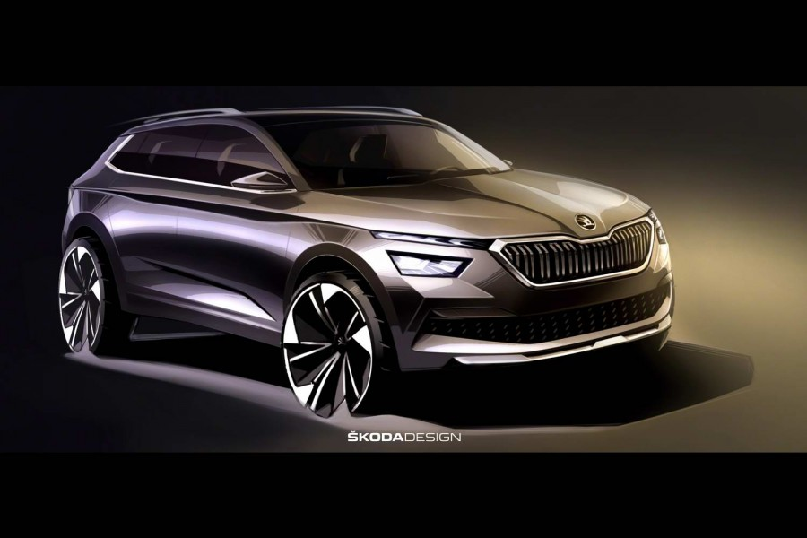 New design sketches preview Skoda Kamiq