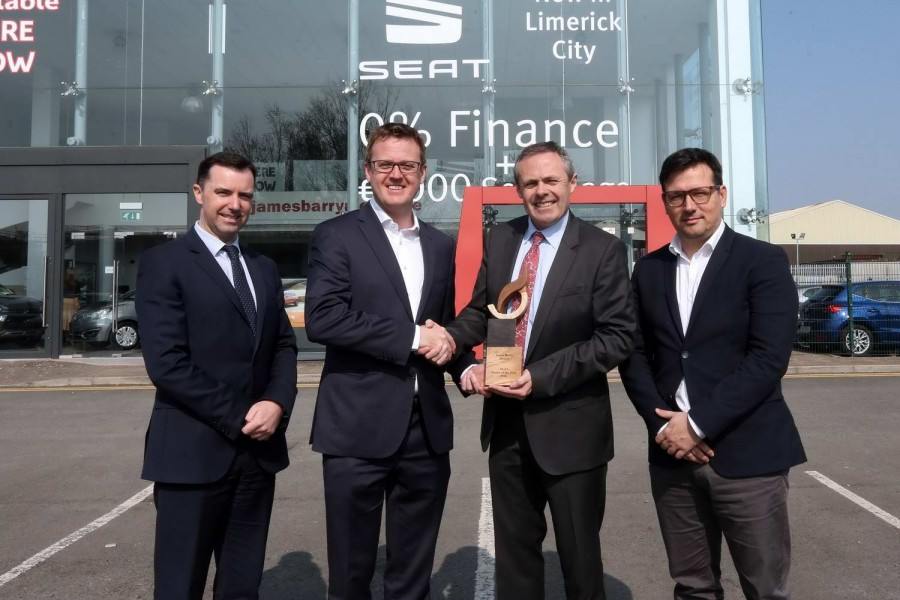 Car Industry News | James Barry Motors in Limerick is SEAT dealer of the year | CompleteCar.ie