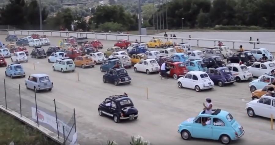 Three veteran Fiat 500 cars from Ireland head to Italy - car and