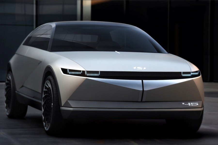 Car News | Hyundai goes retro with 45 electric concept | CompleteCar.ie