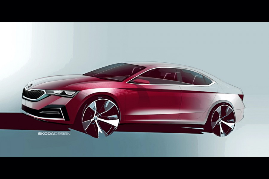 Car News | First sketches of Skoda Octavia appear | CompleteCar.ie